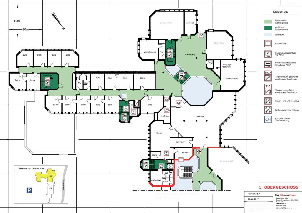 Feuerwehrplan - Erstellt durch Das INGenieurHaus - Frank Borgert - Kirsten Keller - Dirk Witte